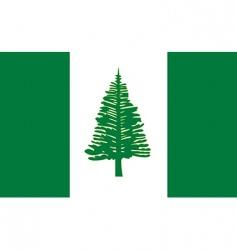 Norfolk Island flag vector image vector image