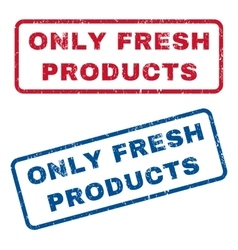 Only Fresh Products Rubber Stamps vector image