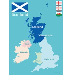 Scotland map vector image vector image