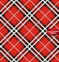 Seamless tartan fabric pattern vector