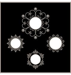 Silver vignette set vector image