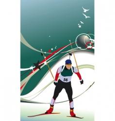 ski biathlon vector image