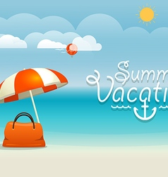 Summer seaside vacation summer vacation concept vector