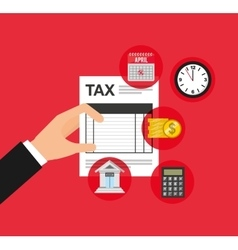 time tax payment icon vector image vector image