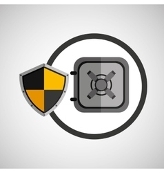 Security shield icon vector