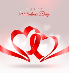 Valentines Day design with two hearts vector image