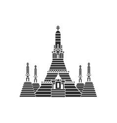 prang of wat arun bangkok thailand vector image