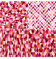 Seamless geometric pink pattern vector