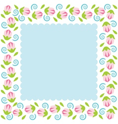 Colorful flowers border vector