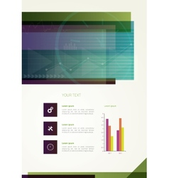 Abstract business flyer vector image