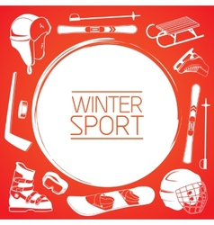 Winter sports background vector