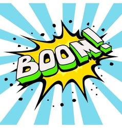 Boom comic speech bubble cartoon vector