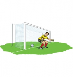 goalkeeper bypassed vector image