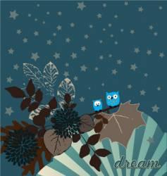 night owls illustration vector image