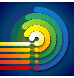 Infographic rainbow 3d circle shapes 5 options vector image