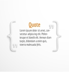 Quote blank with text bubble vector image