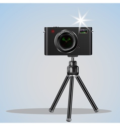 Abstract digital photo camera on small tripod vector