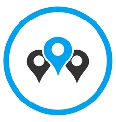 Locations Flat Icon vector image