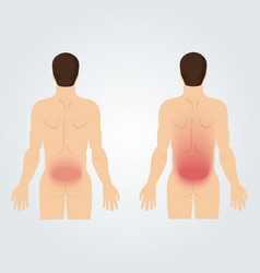 Two silhouettes of men from the back increased vector image