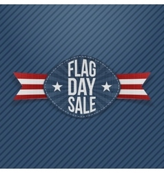 Flag day sale realistic label with ribbon vector