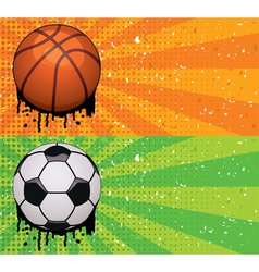 basketball and soccer backgrounds vector image vector image
