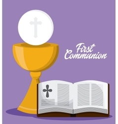 bible book cross cup icon graphic vector image vector image