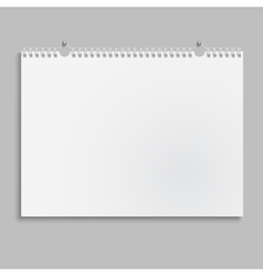 Blank wall calendar with spring vector image vector image