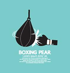Boxer pear boxing gear vector