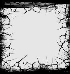 Cracks grunge square shape vector