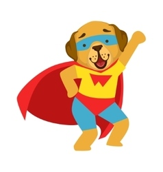Dog Animal Dressed As Superhero With A Cape Comic vector image