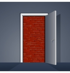 Door to Brick Wall vector image vector image
