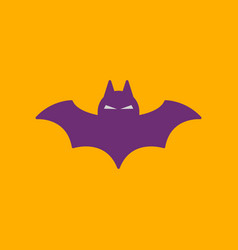 Flat icon on background halloween bat vector