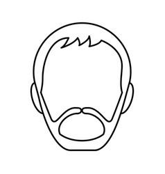 Head man avatar icon vector