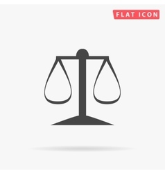 Justice scale simple flat icon vector