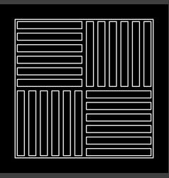Laminate flooring the white path icon vector