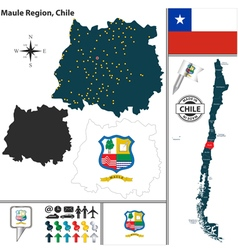 Map of Maule vector image vector image