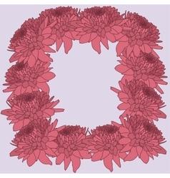 Mum frame floral background vector