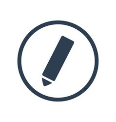 Pencil flat icon vector image vector image