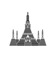Prang of wat arun bangkok thailand vector