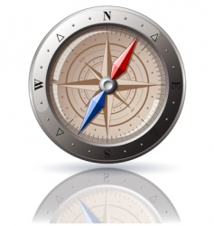 steel compass vector image