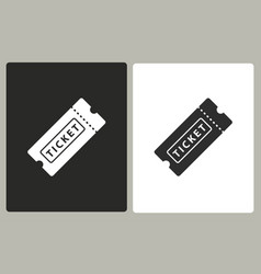 Ticket - icon vector