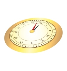 Time clock numbers romans vector