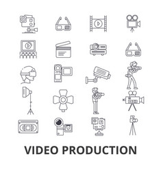 video production camera editing film cinema vector image