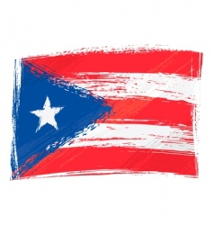 grunge Puerto Rico flag vector image