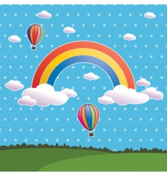 polka dot rainbow vector image
