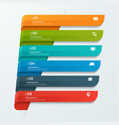 Infographic template with ribbons banners arrows vector