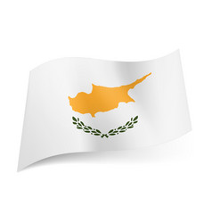 National flag of cyprus island image in orange vector