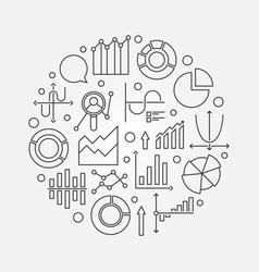 Outline statistics llustration vector