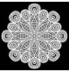 Abstract circle lace pattern vector