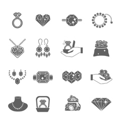 Precious jewels icon set vector